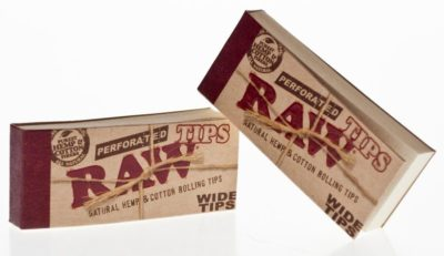 RAW TIPS WIDE ORG CAJA